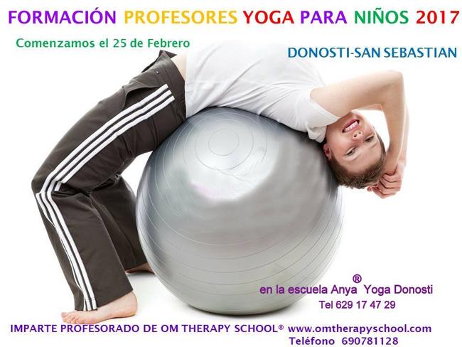 Formación yoga niños ANYA Escuela Donosti