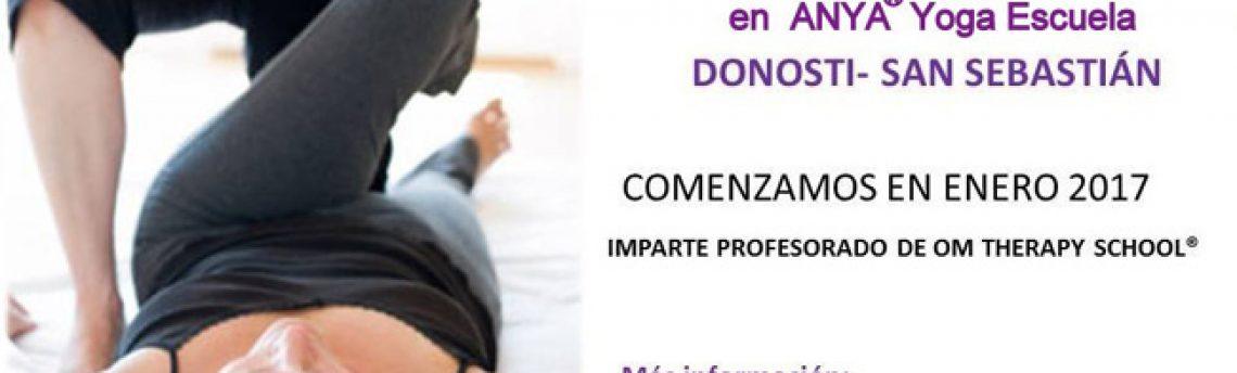 NOVEDAD: Formación de Yoga Terapéutico en la escuela ANYA® DONOSTI